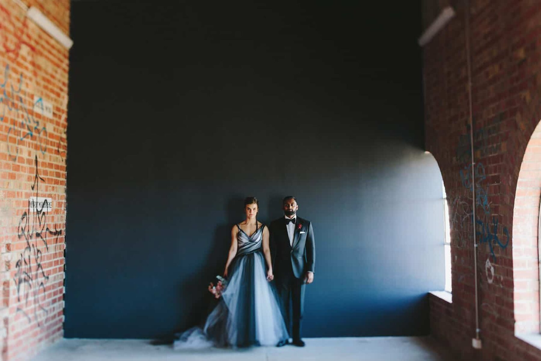 black tulle wedding dress by Sonia Cappellazzo