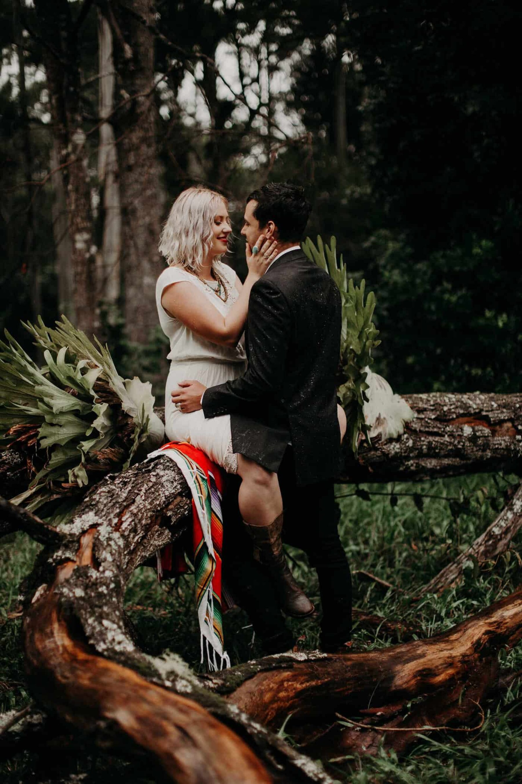 nomadic boho elopement with yurt tent and campervan