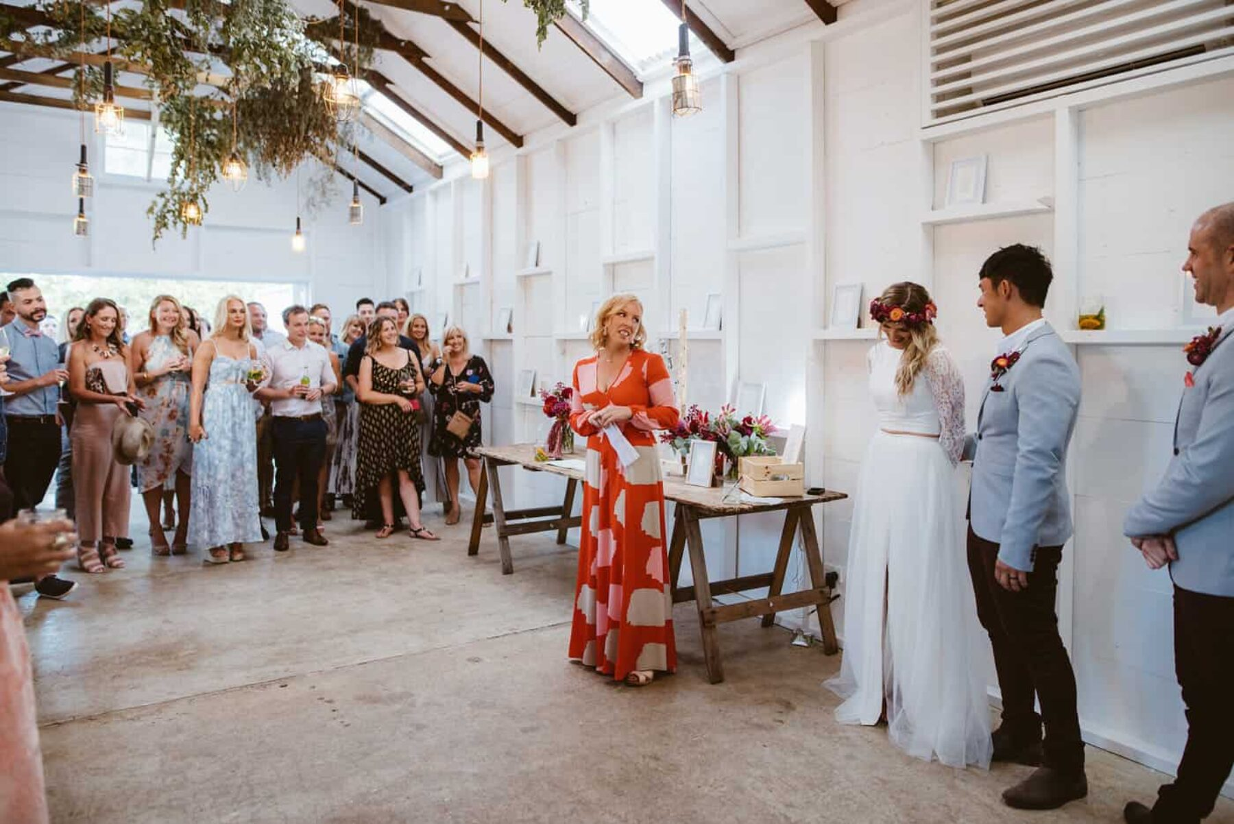 relaxed colourful wedding at The Estate Trentham
