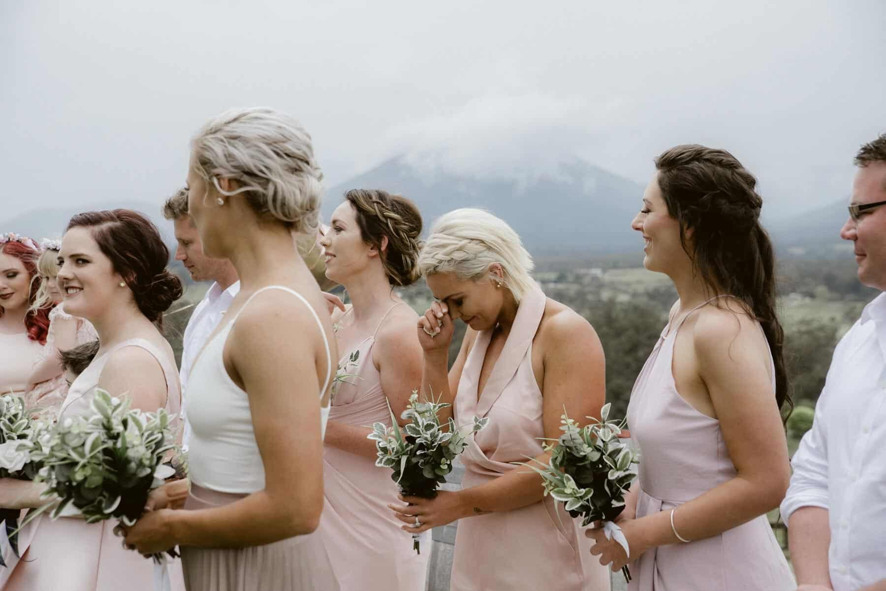 blush and neutral bridal party