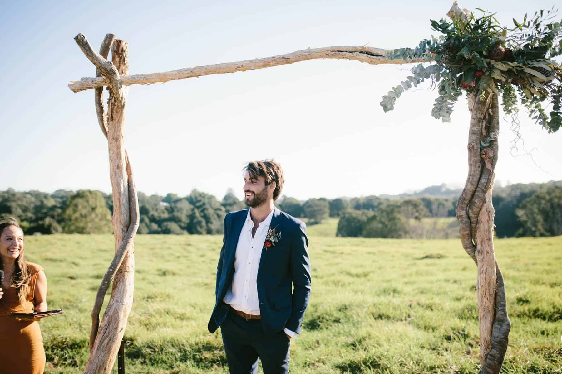 chilled paddock wedding in the Byron Bay hinterland