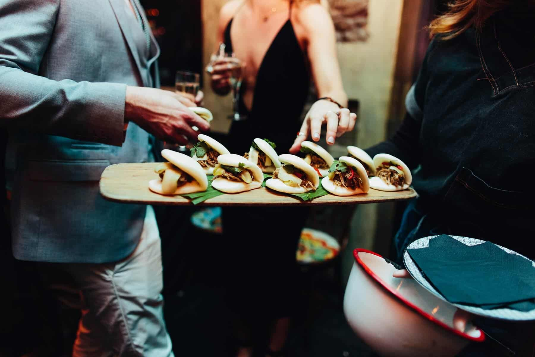 bao buns wedding canapes