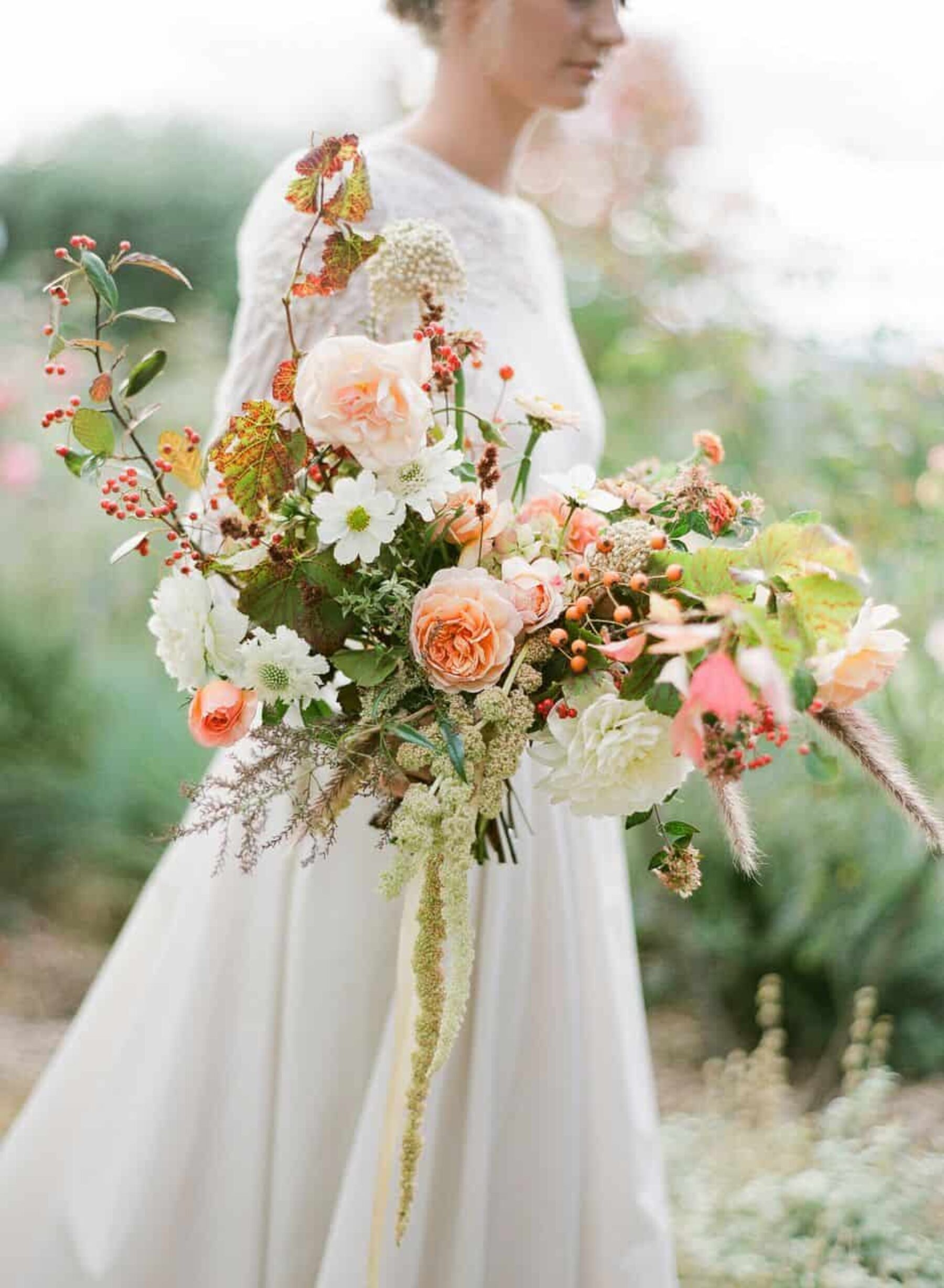 whimsical unstructured bridal bouquet
