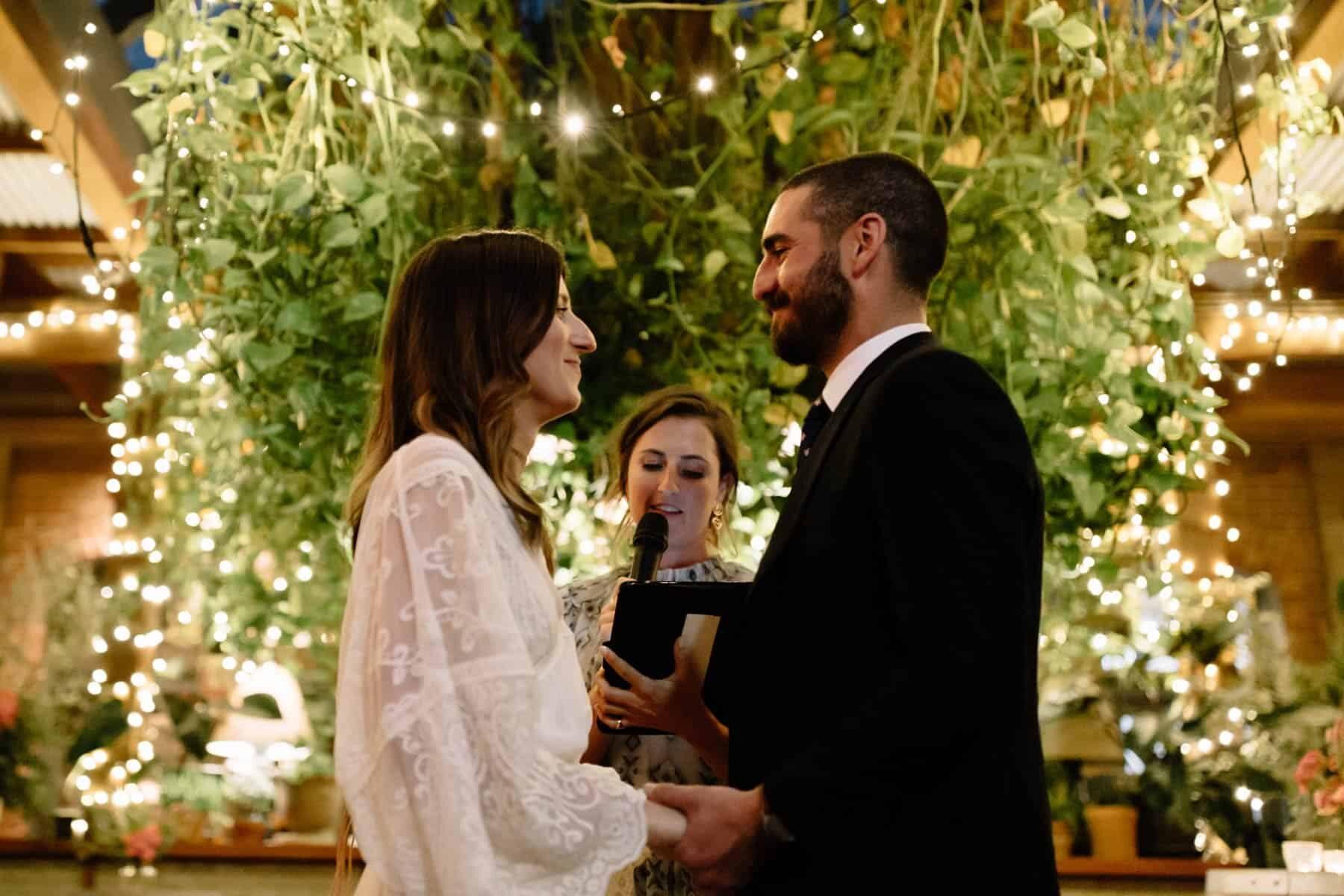 Surprise twilight wedding at The Grounds of Alexandria, Sydney / Photography by Matt Godkin