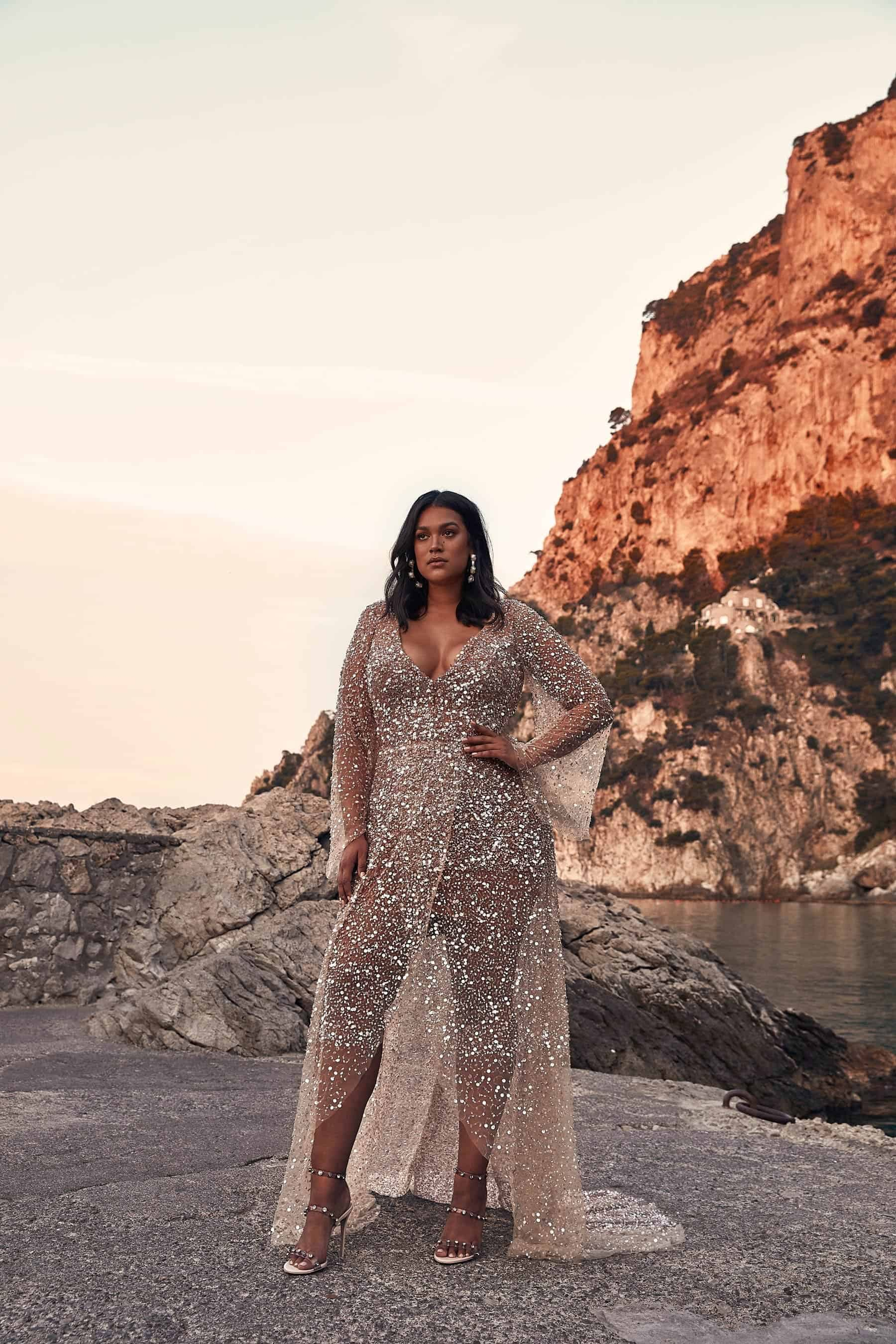sequinned Nala gown by One Day Bridal Curve collection
