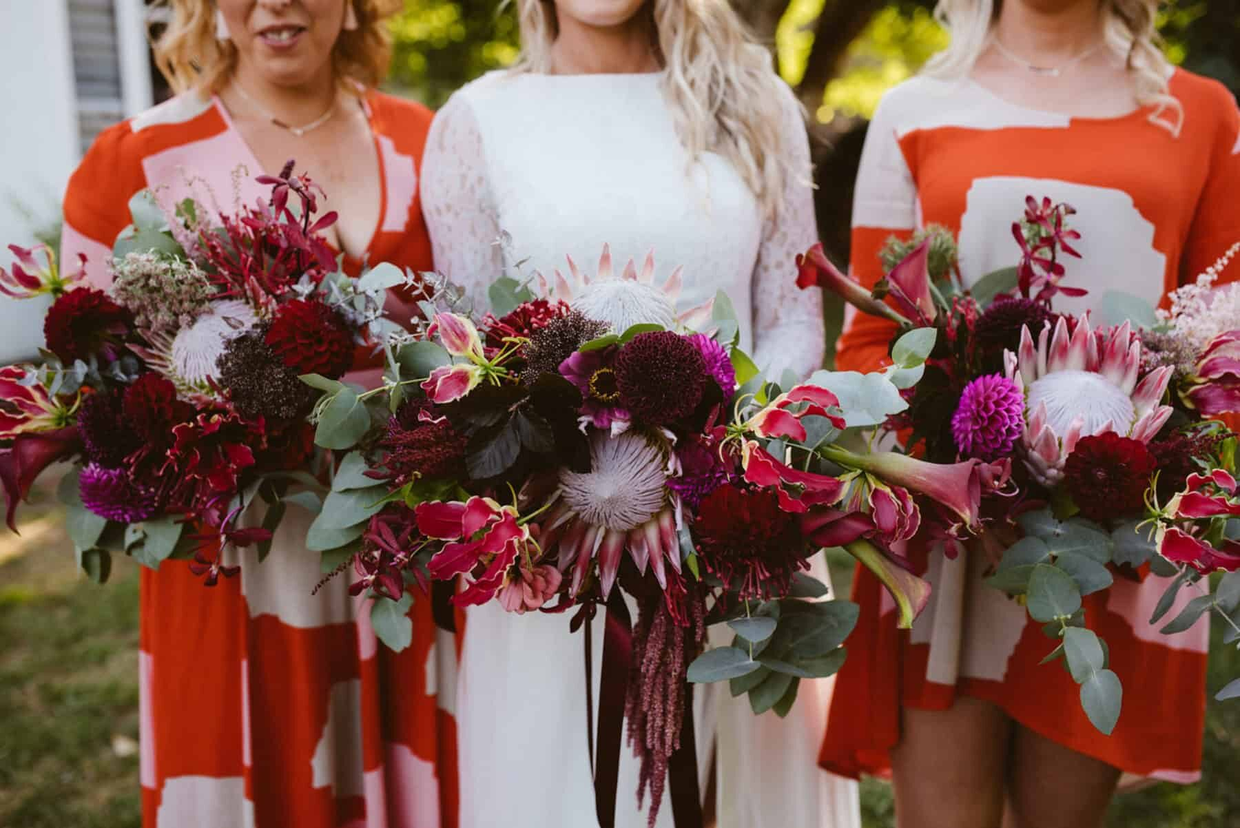 Best of 2018: bouquets. blush and burgundy bridesmaid bouquets