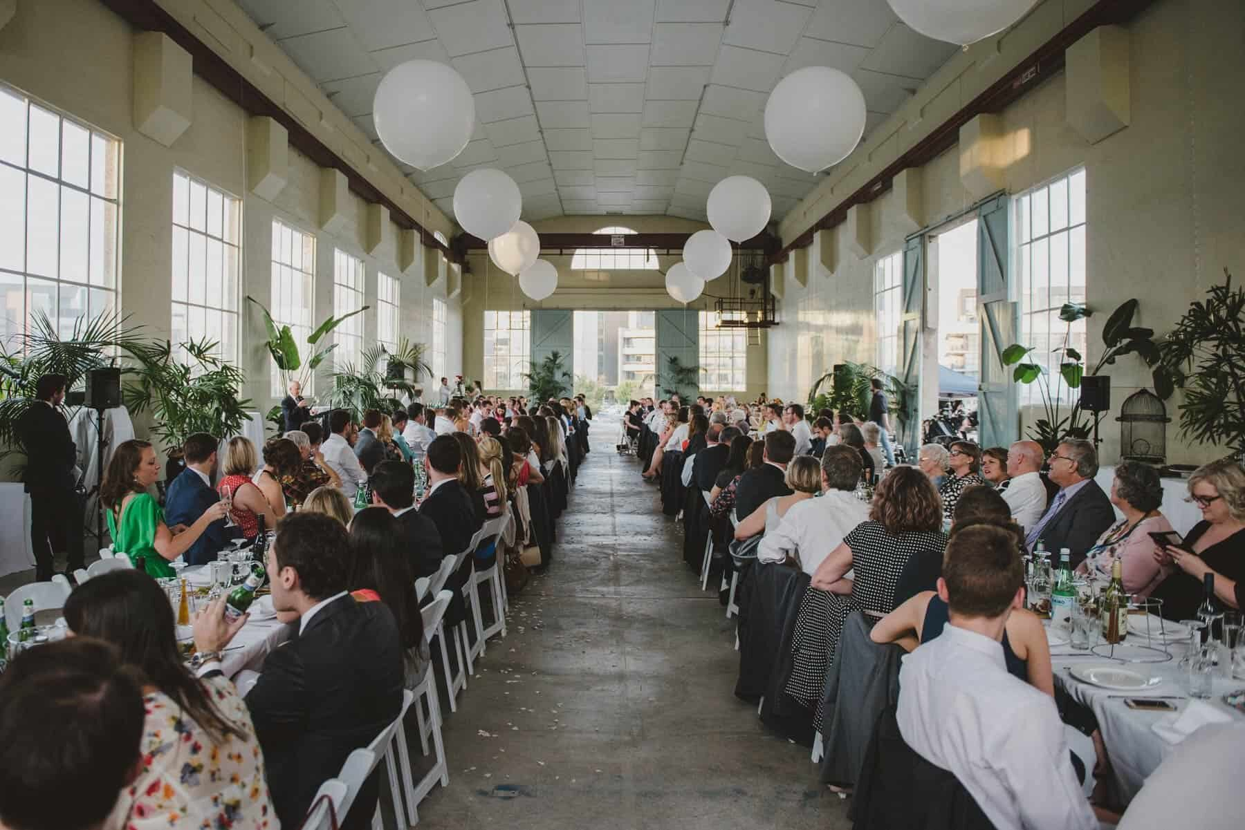 industrial warehouse wedding at The Fitters' Workshop in Canberra