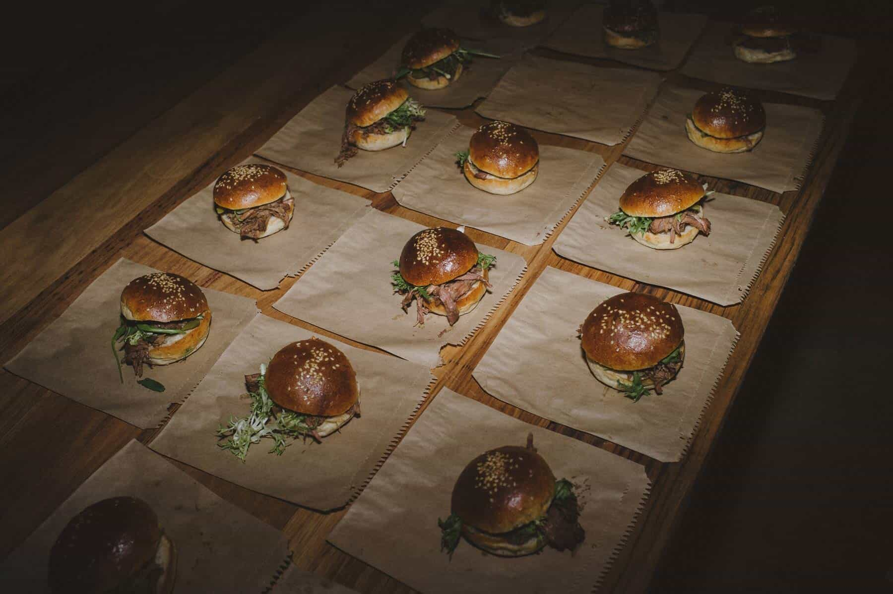 2am sliders for an all-night wedding party