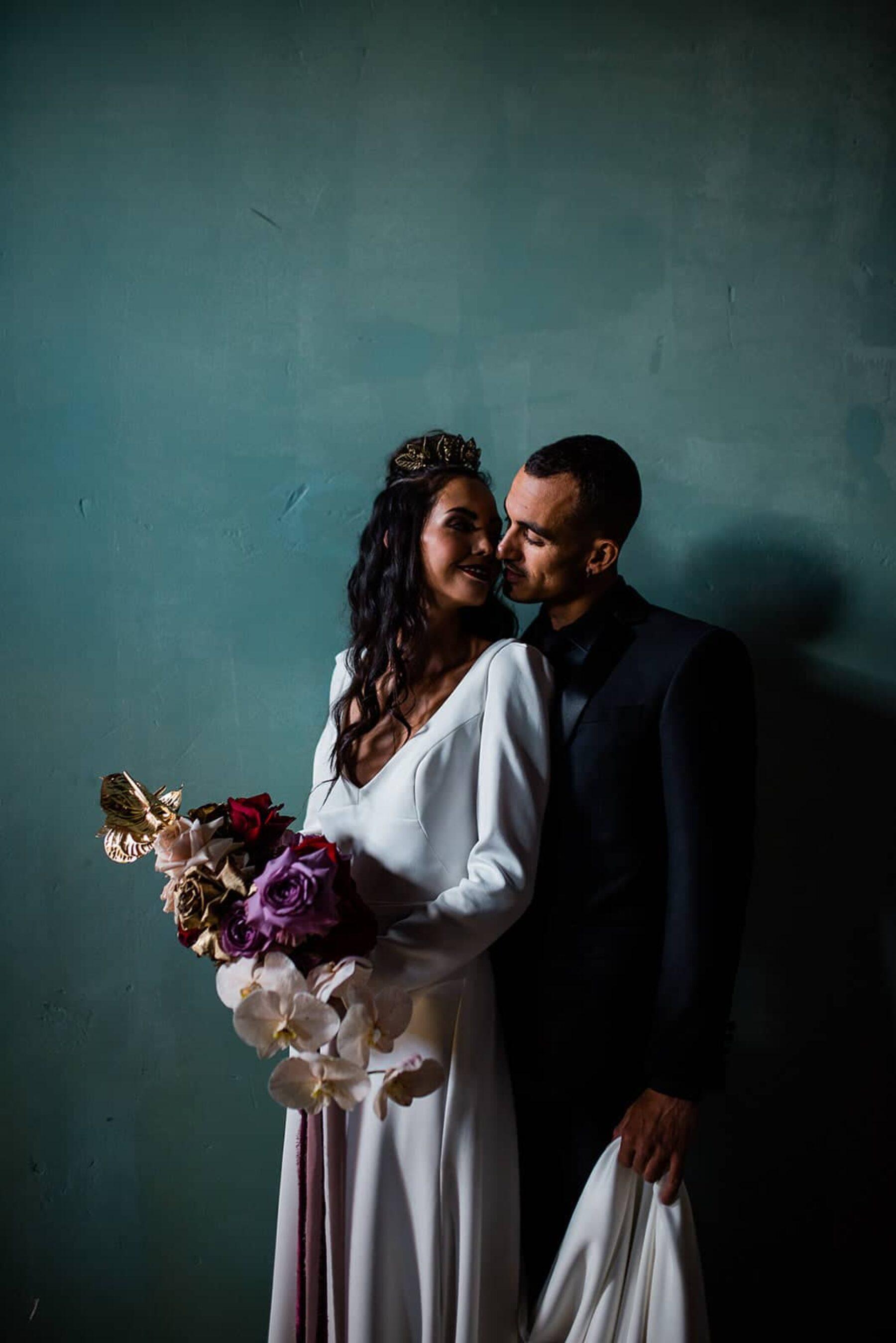 Moody jewel-toned wedding inspiration