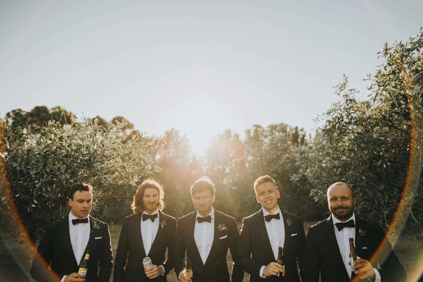 modern classic groomsmen