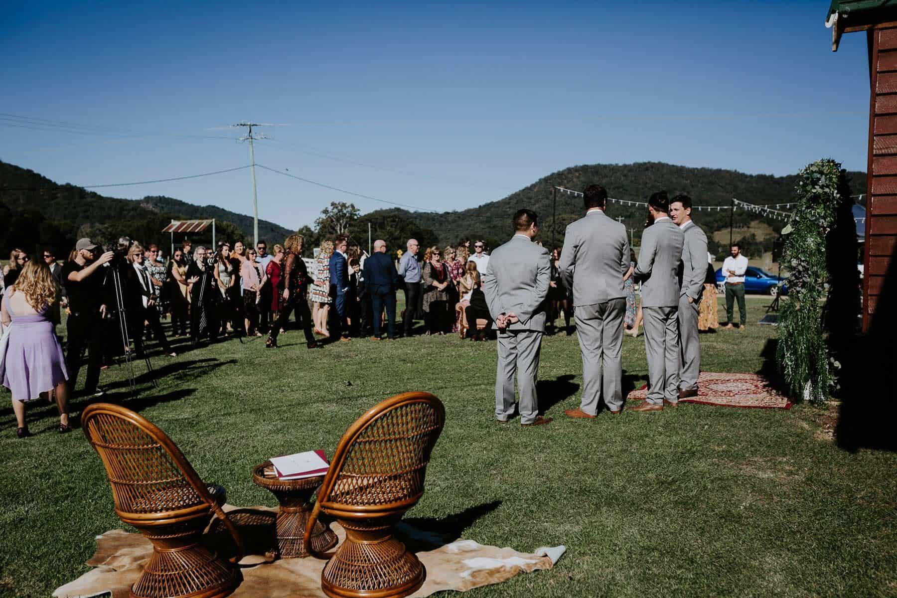 Low key Sunshine Coast wedding at the Obi Obi Hall