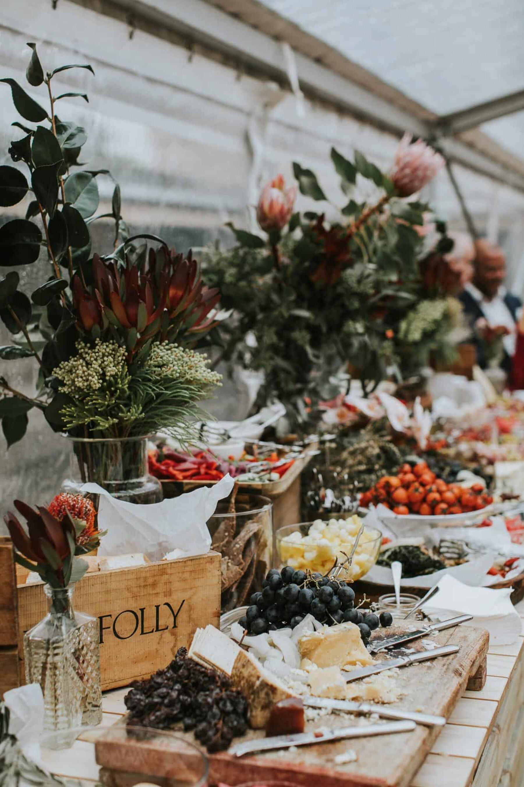 rustic grazing table by the Caterer Sydney