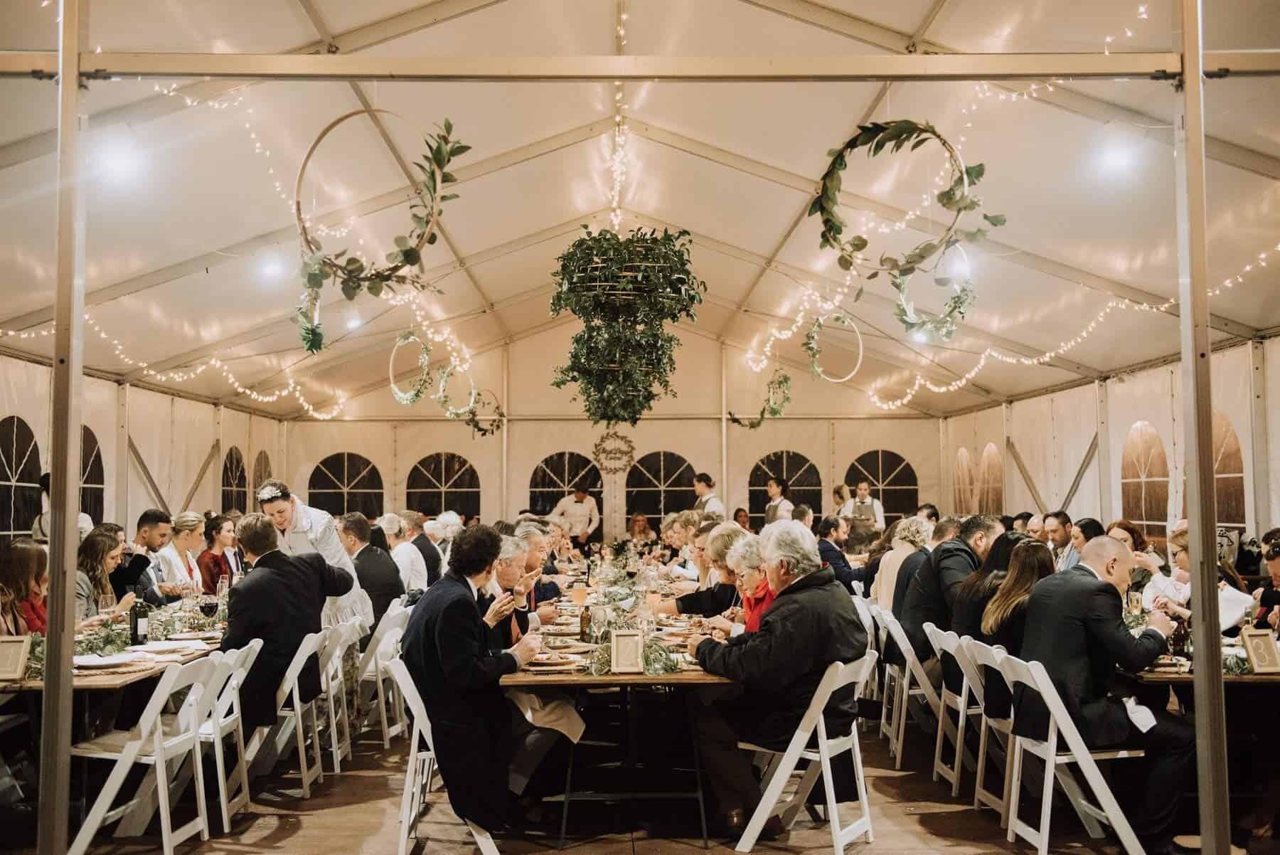 DIY marquee wedding at Terara Riverside Gardens South Coast