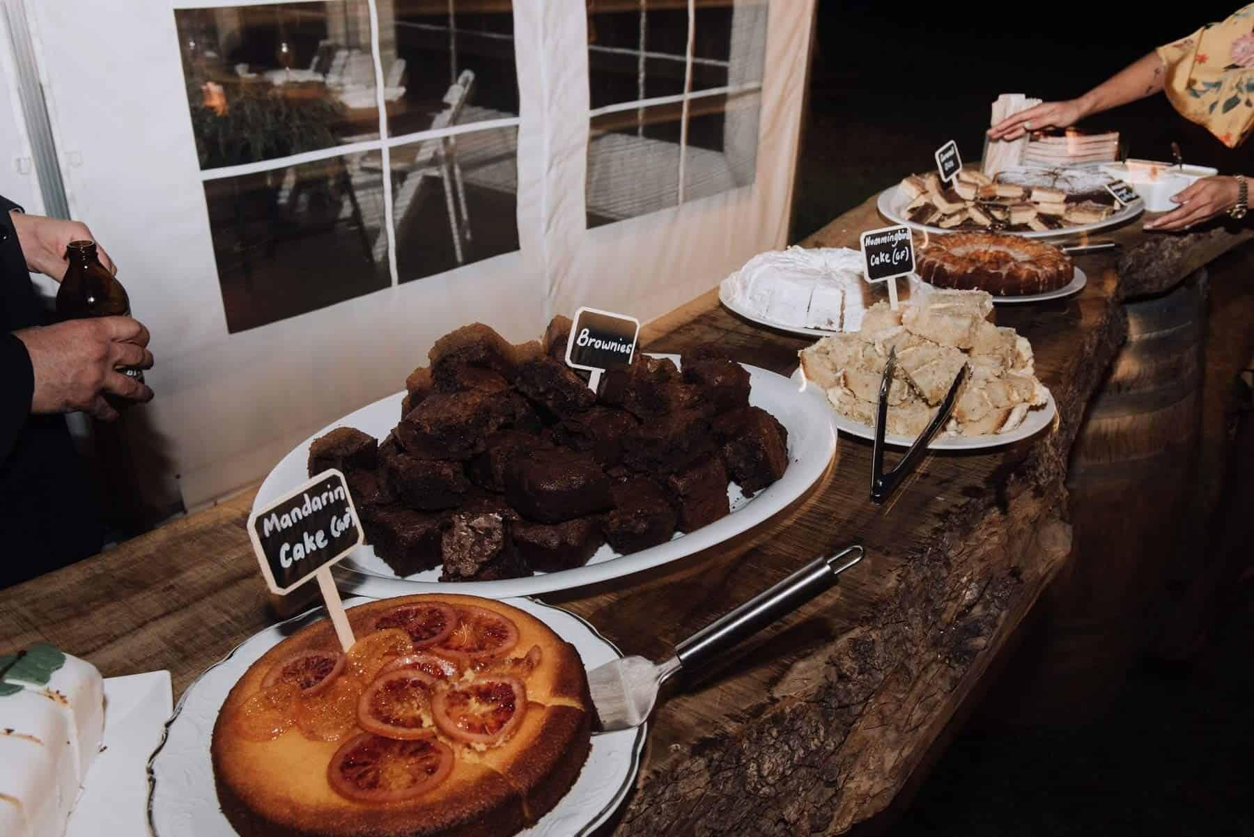 homemade dessert table wedding