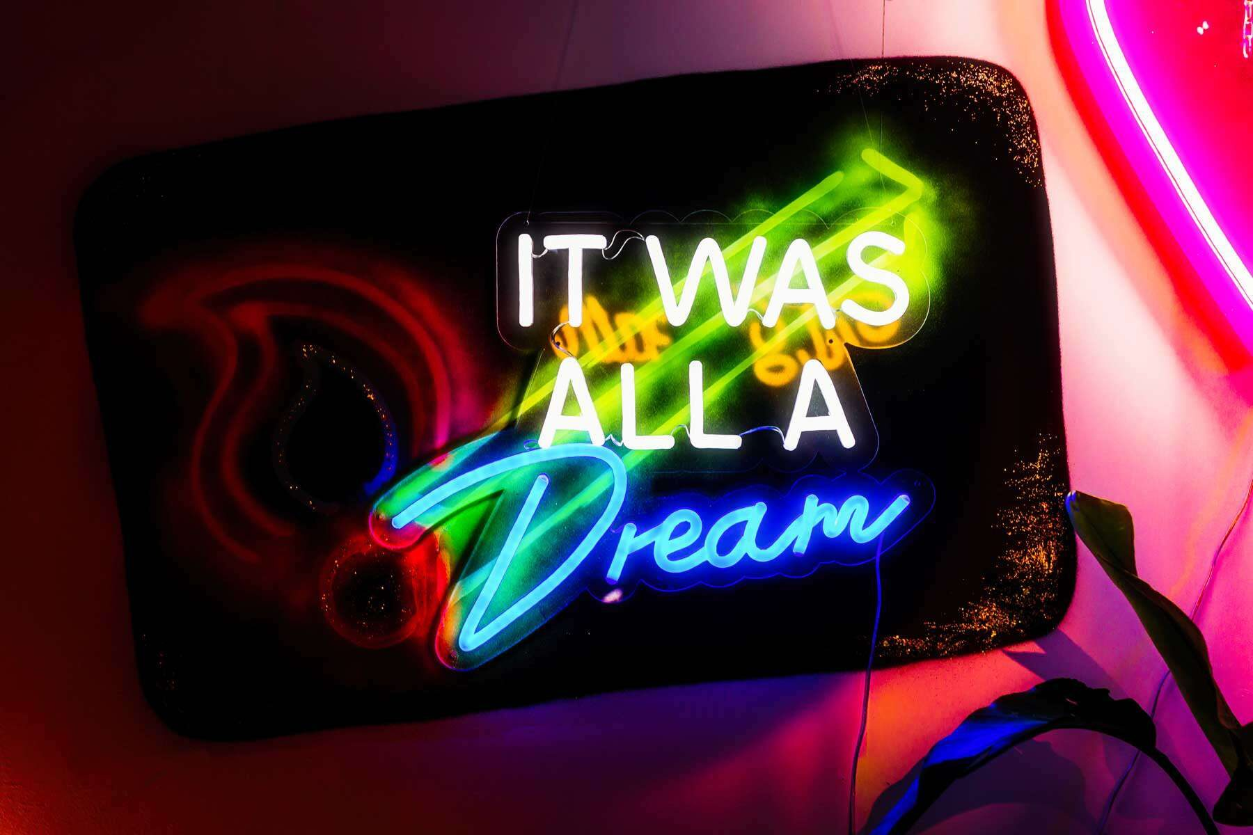 neon wedding sign - it was all a dream