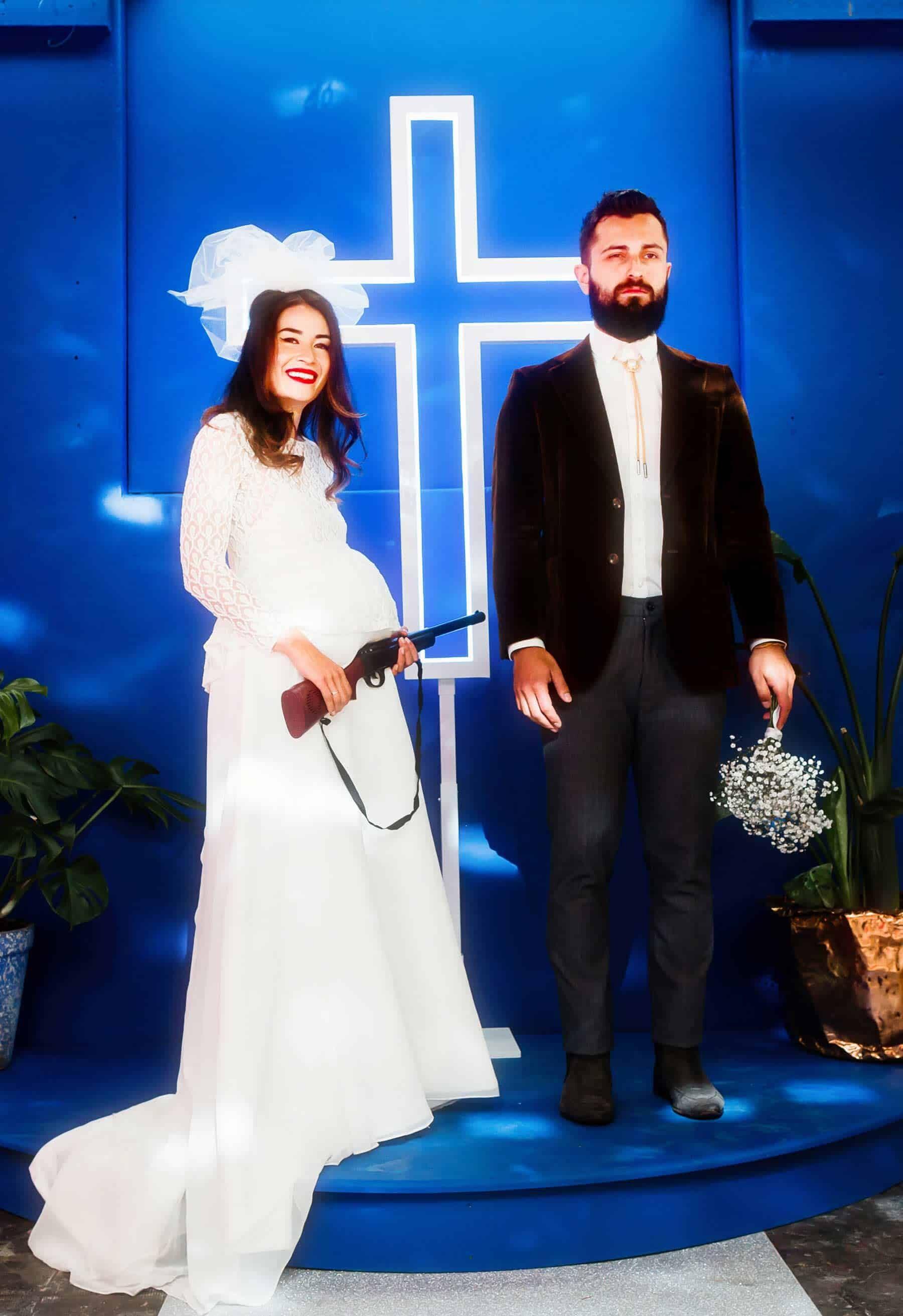 LED cross wedding backdrop