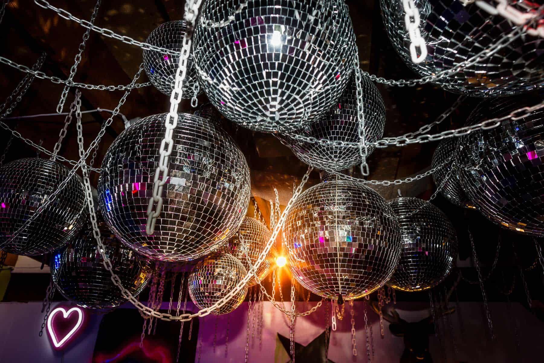 disco ball installation
