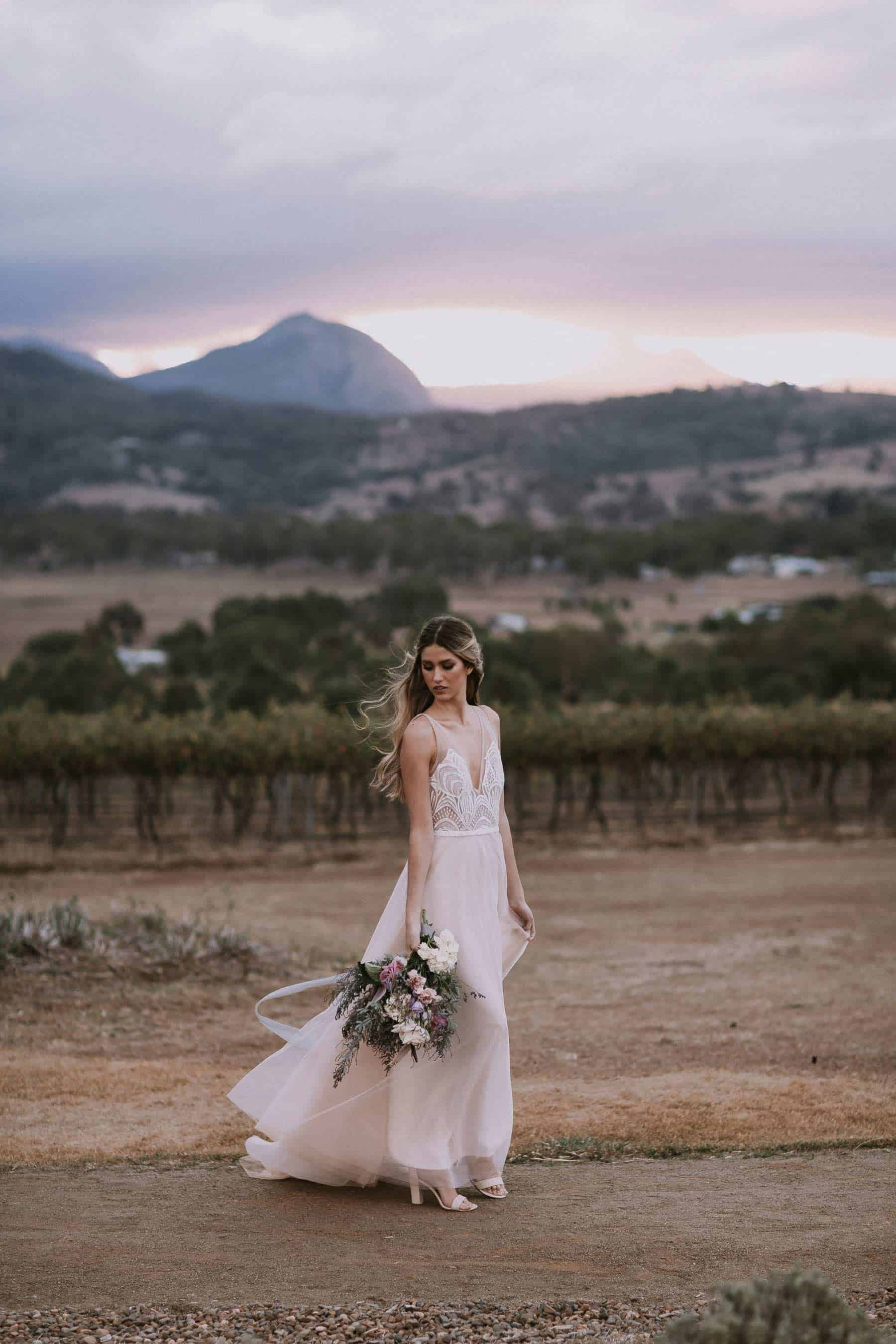 romantic bride in Made with Love Bridal wedding dress