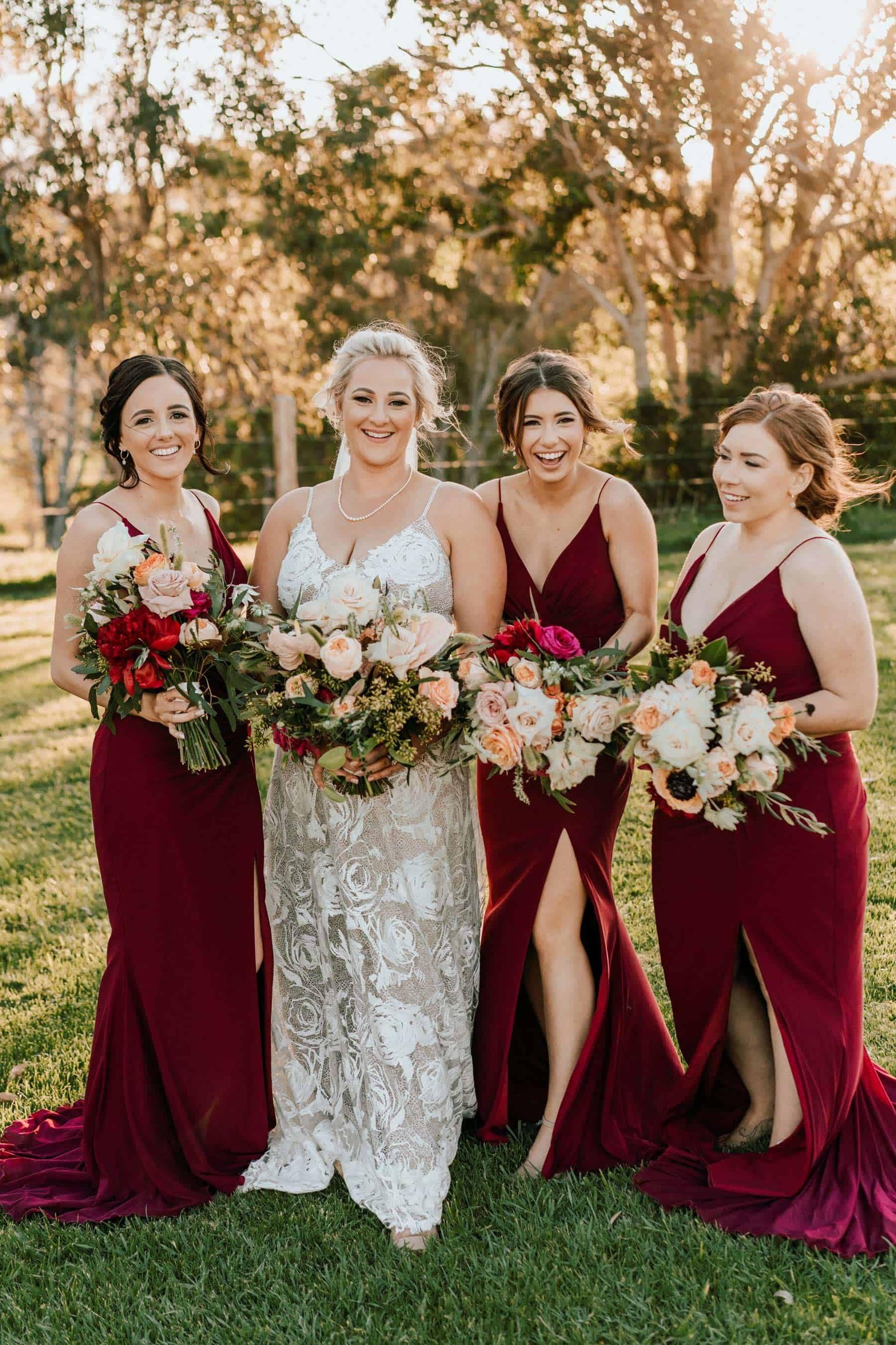 red bridesmaid maxi dresses