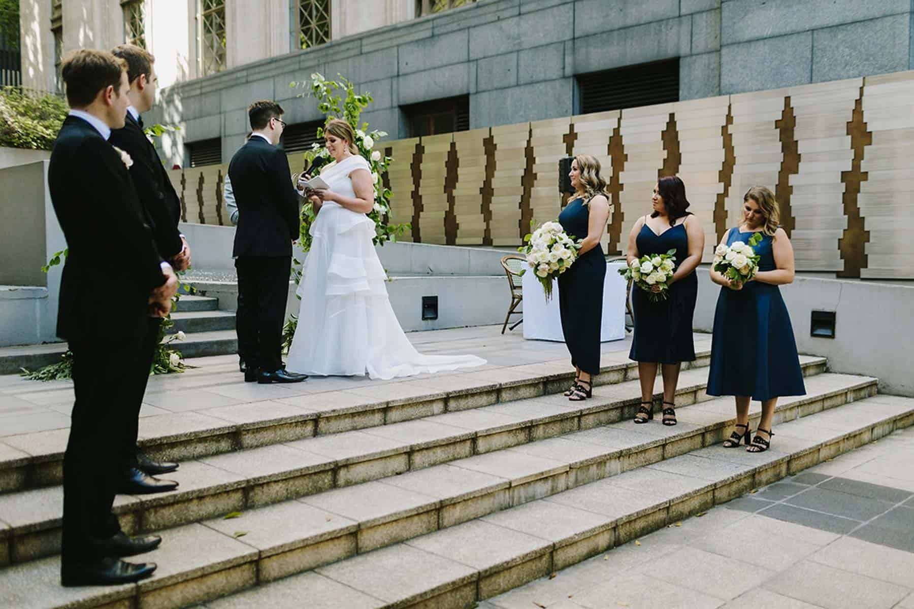 modern Melbourne wedding at Immigration Museum