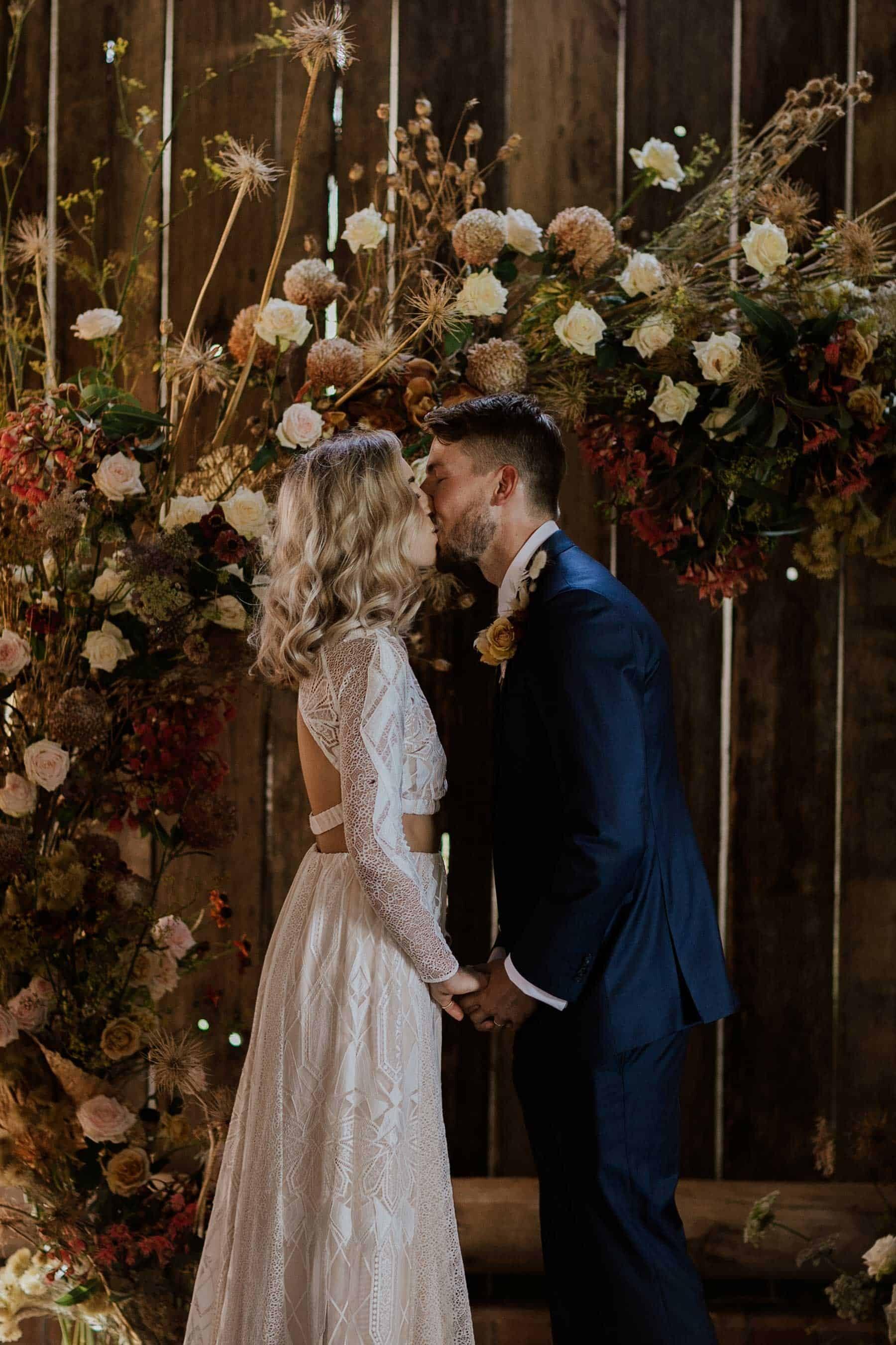 floral circle wedding arbour