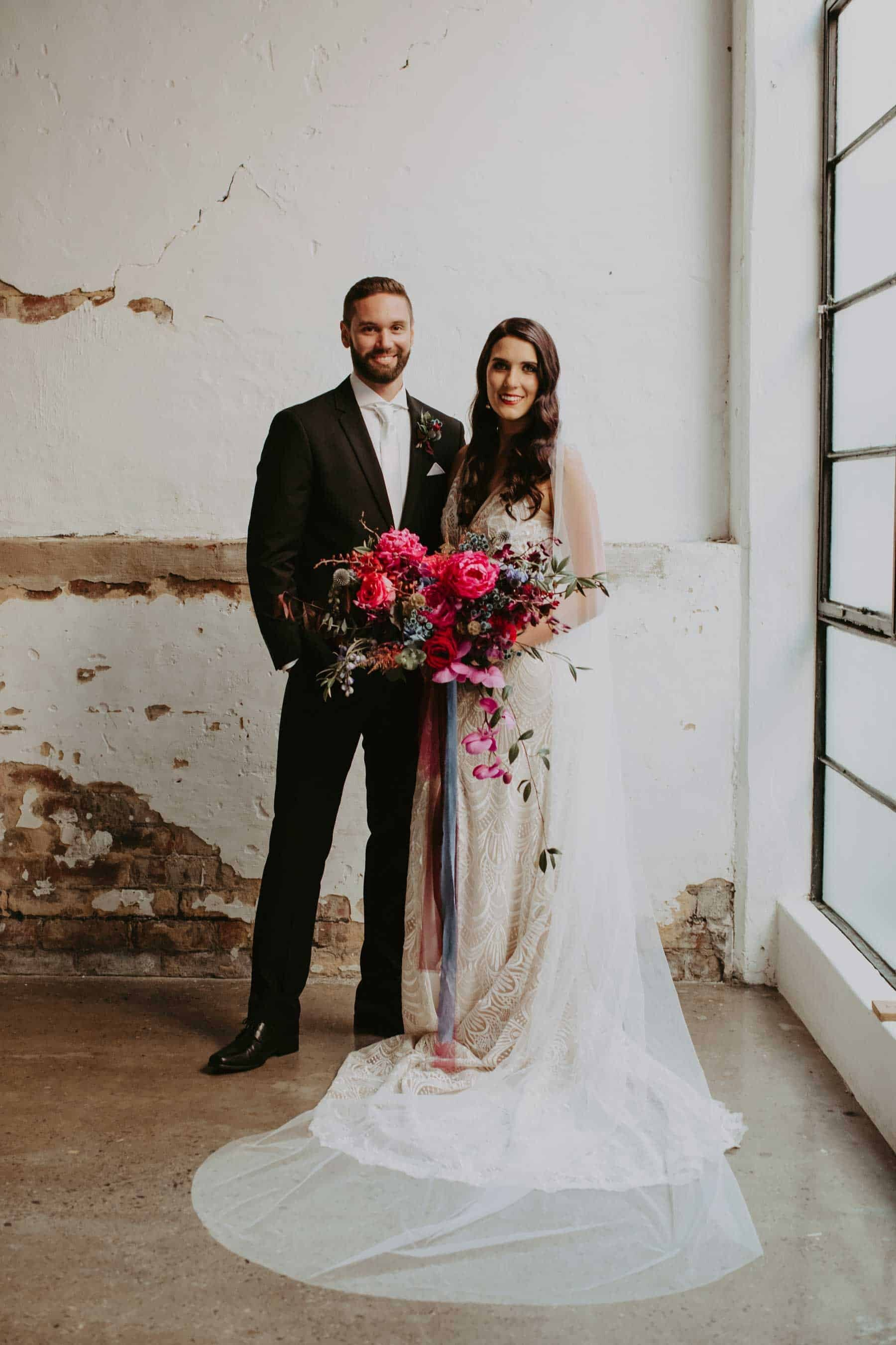 industrial Perth wedding at The Old Pickle Factory