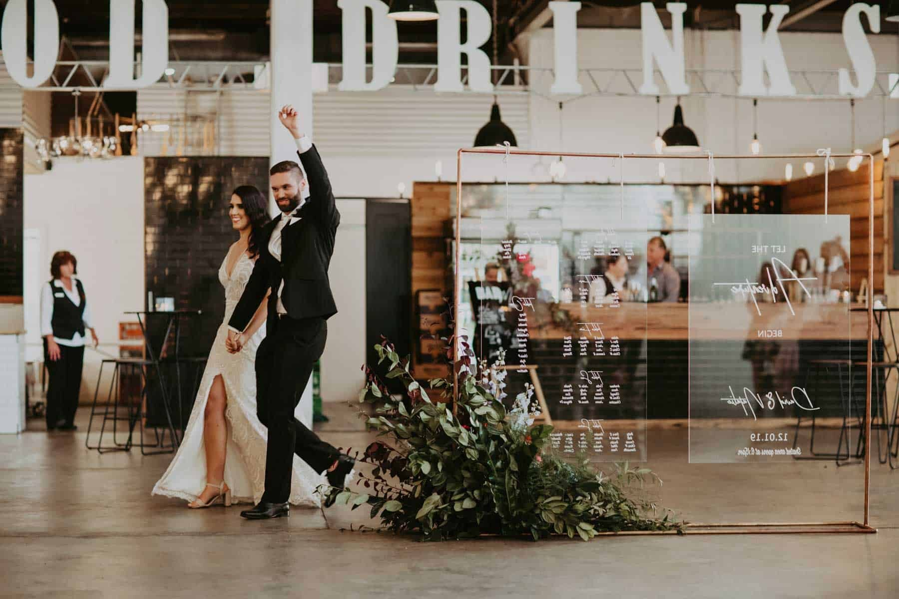 modern Perth wedding at The Old Pickle Factory