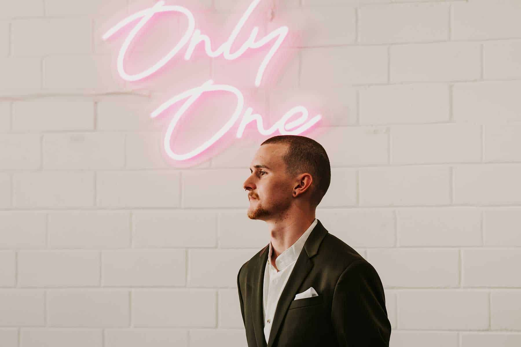 Only one neon wedding sigh