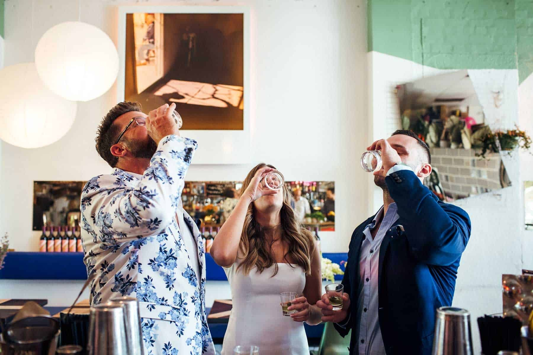relaxed pub party wedding at The Standard, Perth