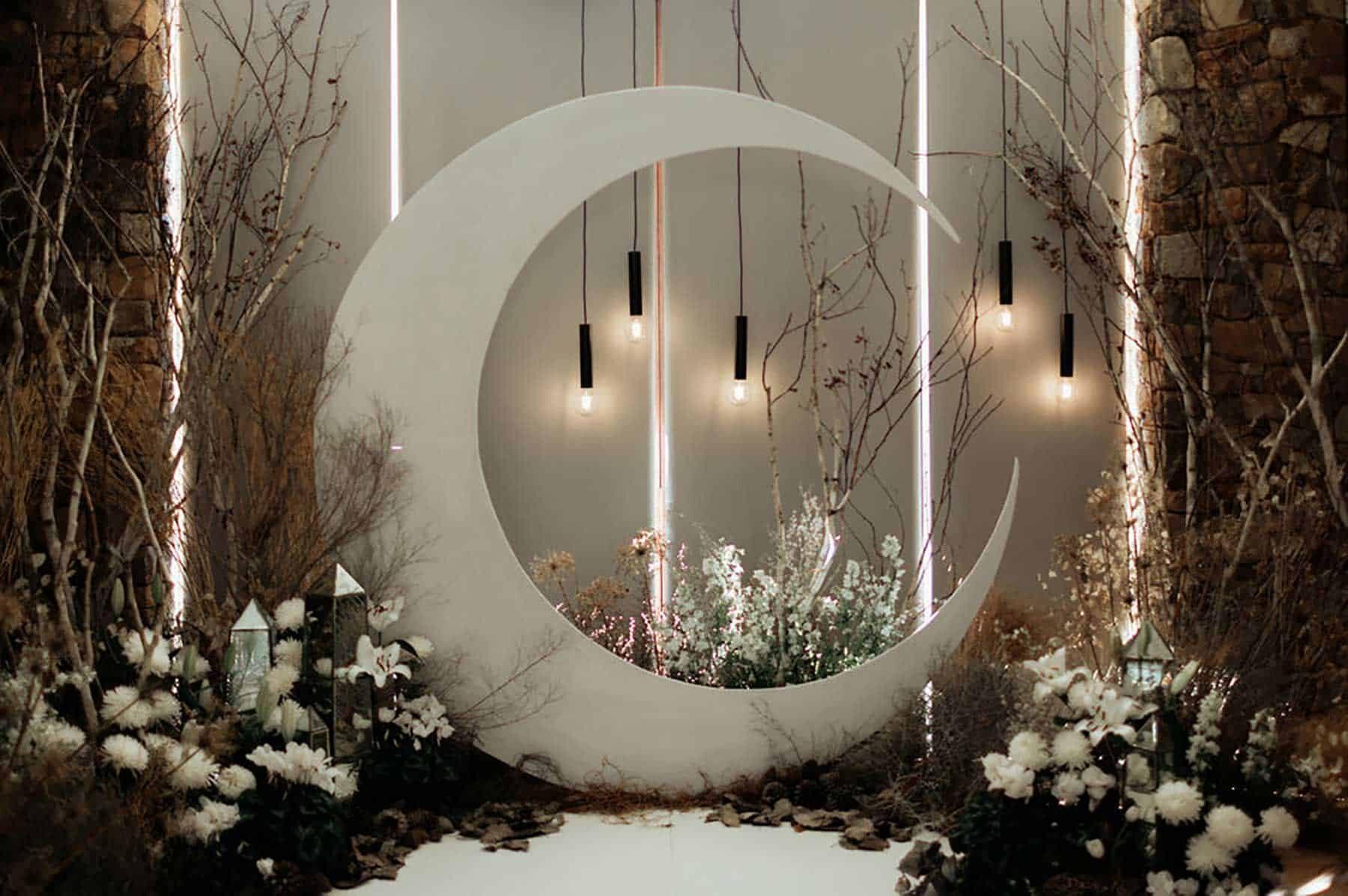 cresent moon wedding arbour